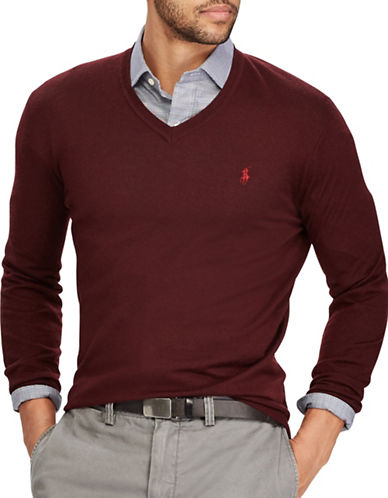 Polo Ralph Lauren Washable Wool Sweater-RED-Small