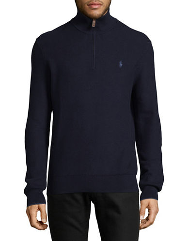 Polo Ralph Lauren Long Sleeve Cotton Pullover-CAMPUS BLUE-Small