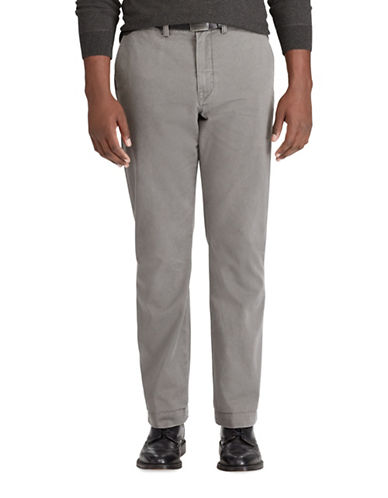 Polo Ralph Lauren Big and Tall Classic-Fit Cotton Chino Pants-GREY-46X32