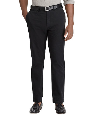 Polo Ralph Lauren Big and Tall Classic-Fit Cotton Chino Pants-BLACK-42X36