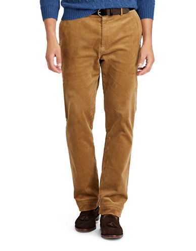 Polo Ralph Lauren Stretch Classic Fit Corduroy Pants-BROWN-48X32