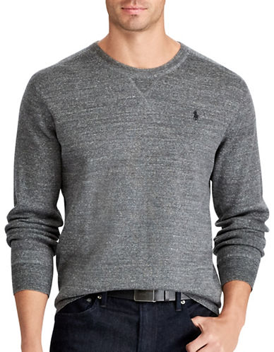 Polo Ralph Lauren Big and Tall Rustic Cotton Sweater-GREY-4X Big