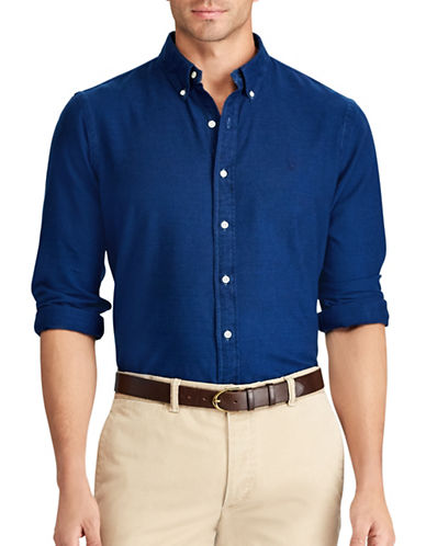 Polo Ralph Lauren Standard Fit Cotton Sport Shirt-BLUE-Large