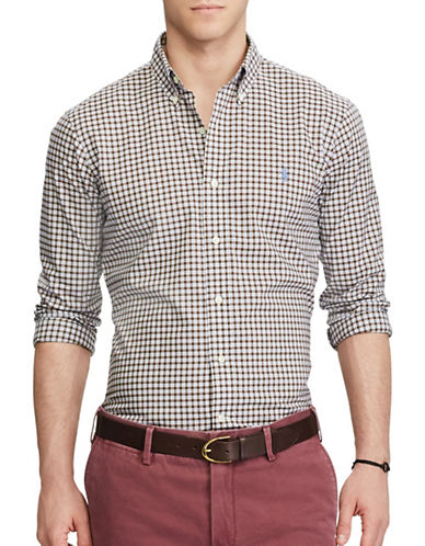 Polo Ralph Lauren Standard Fit Plaid Shirt-BROWN-Large