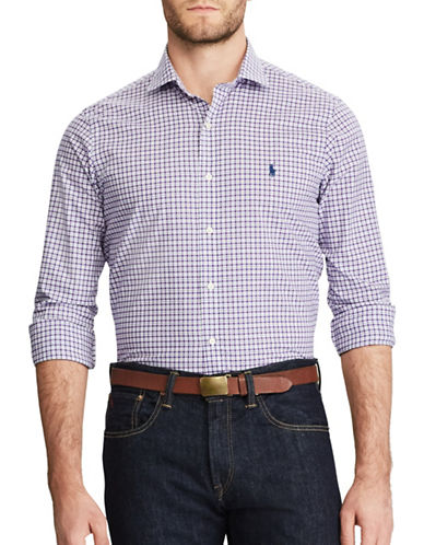 Polo Ralph Lauren Standard-Fit Plaid Cotton Shirt-PURPLE-XX-Large