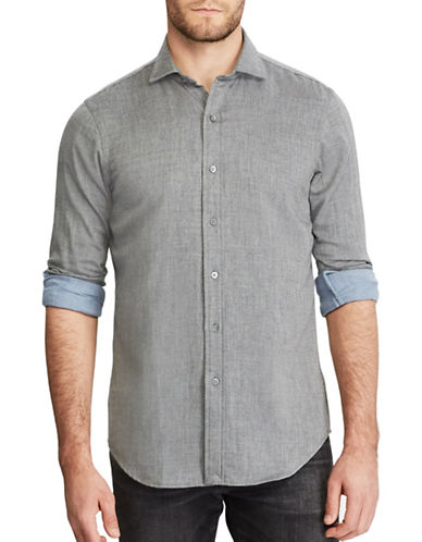Polo Ralph Lauren Double Face Cotton Dress Shirt-GREY-XX-Large