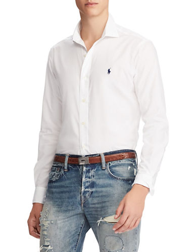 Polo Ralph Lauren Classic Long-Sleeve Cotton Sport Shirt-WHITE-Small 89816545_WHITE_Small