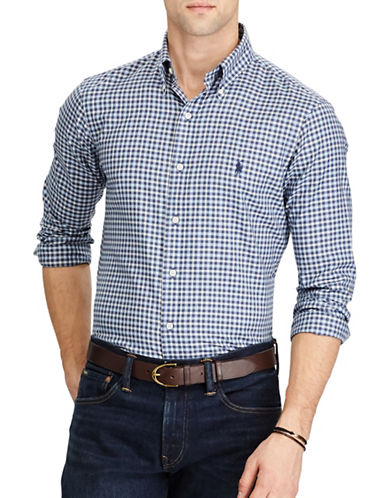 Polo Ralph Lauren Standard Fit Cotton Shirt-NAVY-Medium