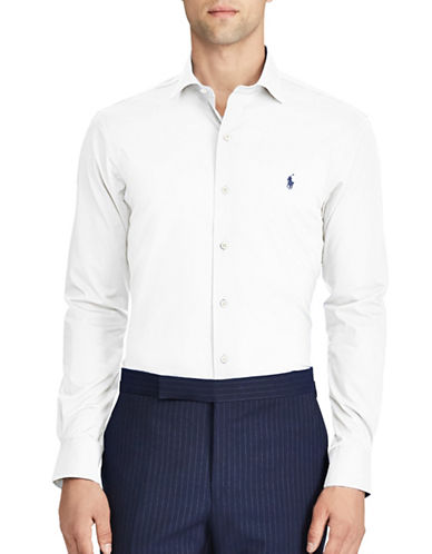 Polo Ralph Lauren Slim-Fit No-Iron Poplin Cotton Dress Shirt-WHITE-Small