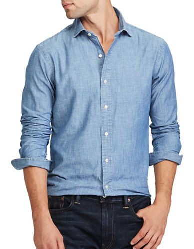 Polo Ralph Lauren Slim-Fit Chambray Shirt-BLUE-XX-Large