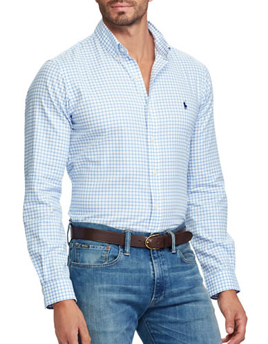Polo Ralph Lauren Classic Fit Cotton Shirt-BLUE-Large Tall