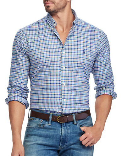 Polo Ralph Lauren Classic Fit Cotton Shirt-AZURE-4X Tall