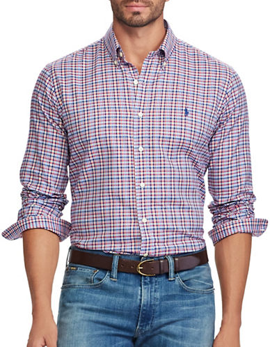 Polo Ralph Lauren Classic Fit Cotton Shirt-RUBY-1X Tall