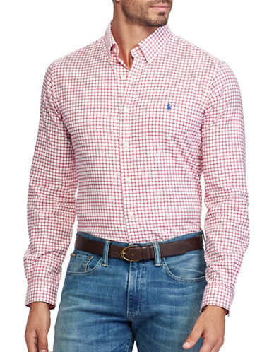 Polo Ralph Lauren Classic Fit Cotton Shirt-RED-5X Tall