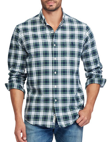 Polo Ralph Lauren Big and Tall Plaid Sport Shirt-GREEN-3X Tall