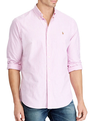 Polo Ralph Lauren Big and Tall Classic-Fit Striped Oxford Shirt-RED-4X Big
