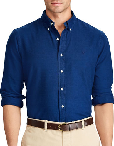 Polo Ralph Lauren Big and Tall Oxford Classic Fit Sport Shirt-INDIGO-3X Tall