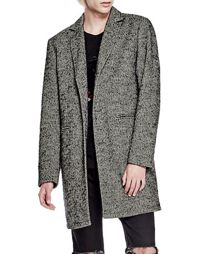 Guess Martel Tweed Coat-BLACK-XX-Large 88782844_BLACK_XX-Large