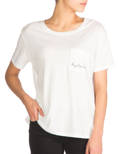 Guess Embroidered Pocket Tee-WHITE-Large 88874887_WHITE_Large
