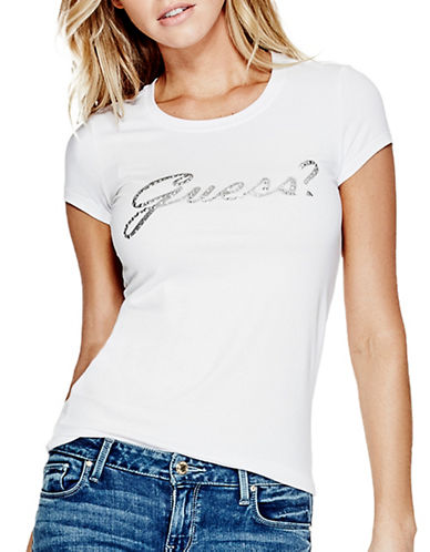 Guess Script Logo Tee-WHITE-Small 88930407_WHITE_Small