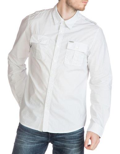Guess Laguna Polka Dot Shirt-WHITE-Small