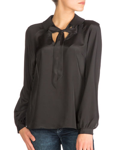 Guess Darla Popover Shirt-BLACK-Medium
