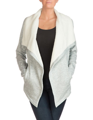 Guess Bailey Faux-Sherpa Jacket-GREY-Small 88955579_GREY_Small