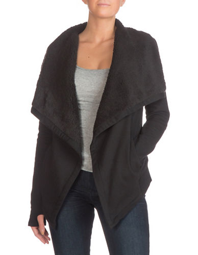 Guess Bailey Faux-Sherpa Jacket-BLACK-Medium 88955575_BLACK_Medium
