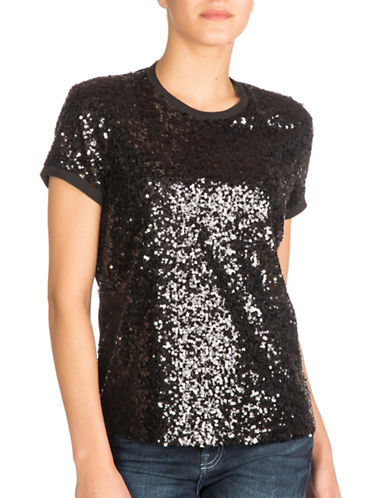 Guess Amberley Sequin Tee-BLACK-Small 88874965_BLACK_Small