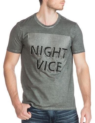 Guess Night Vice Crew T-Shirt-GREY-XX-Large 88875050_GREY_XX-Large