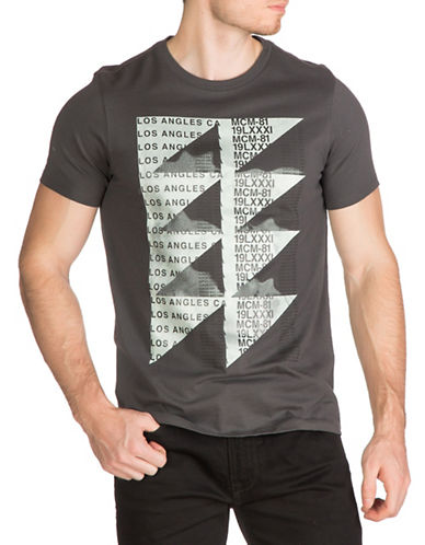 Guess Geo Print T-Shirt-GREY-Medium 88948385_GREY_Medium