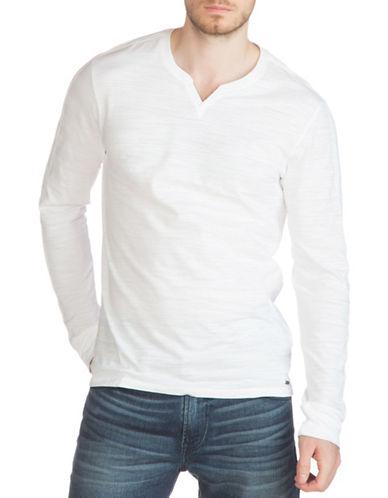 Guess Striped Slub Jersey Top-WHITE-Medium 88875120_WHITE_Medium