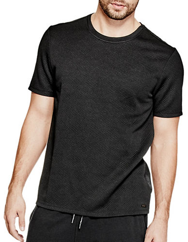 Guess Balboa Quilted Knit T-Shirt-BLACK-XX-Large 88948451_BLACK_XX-Large
