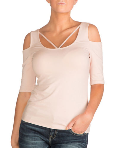 Guess Aniya Criss-Cross Top-PINK-Medium 88955590_PINK_Medium