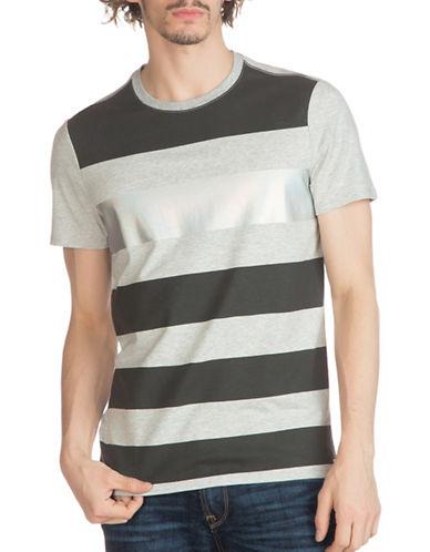 Guess Soto Variegated Stripe T-Shirt-GREY-XX-Large 88875143_GREY_XX-Large