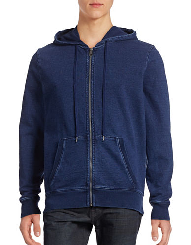Guess Indigo French Terry Full-Zip Hoodie-BLUE-X-Large 88782893_BLUE_X-Large