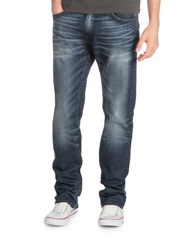 Guess Blue Wash Regular Straight Jeans-BLUE-28