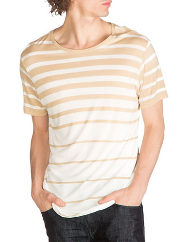 Guess Max Striped T-Shirt-NATURAL-Medium