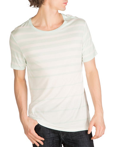 Guess Max Striped T-Shirt-WHITE-X-Large 88948445_WHITE_X-Large