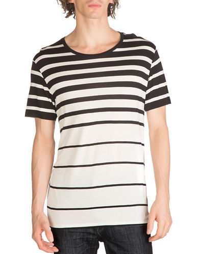 Guess Max Striped T-Shirt-BLACK-Medium