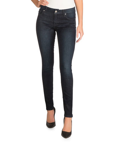 Guess Power Curvy Mid Rise Jeans-BLUE-32