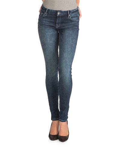 Guess Power Curvy Mid Rise Jeans-DARK BLUE-26