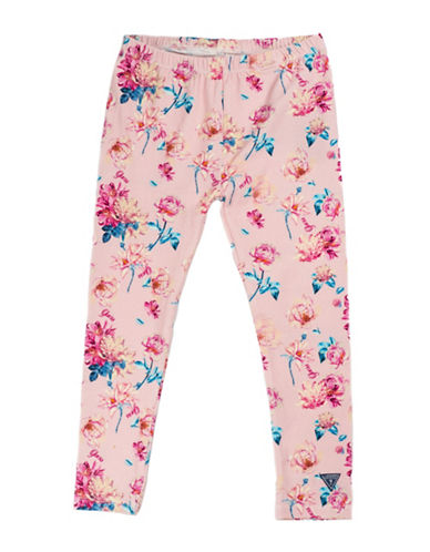 Guess Knitted Floral Leggings-BLUE-2T