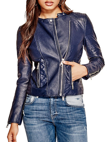 Guess Megan Moto Jacket-BLUE-Large 89017891_BLUE_Large