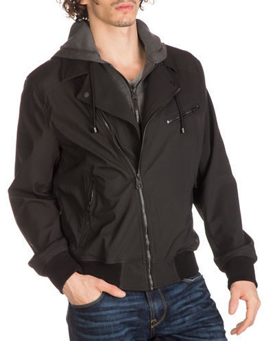 Guess Gunnar Motorcycle Jacket-BLACK-X-Large 89009096_BLACK_X-Large