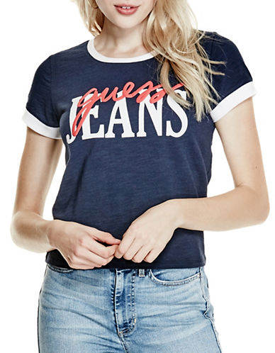 Guess Originals Classic Ringer Tee-BLACK-X-Large 89143361_BLACK_X-Large