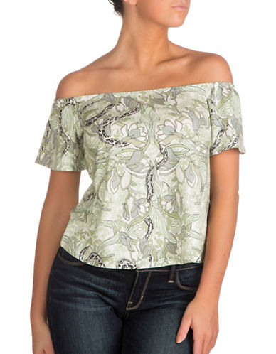 Guess Off-the-Shoulder Amore Top-GREEN-Large 89143350_GREEN_Large