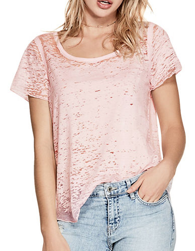 Guess Waves Burnout T-Shirt-PINK-X-Large 89143381_PINK_X-Large