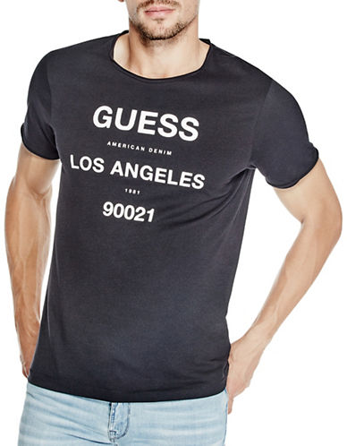 Guess Raw Logo T-Shirt-BLACK-X-Large 89009116_BLACK_X-Large