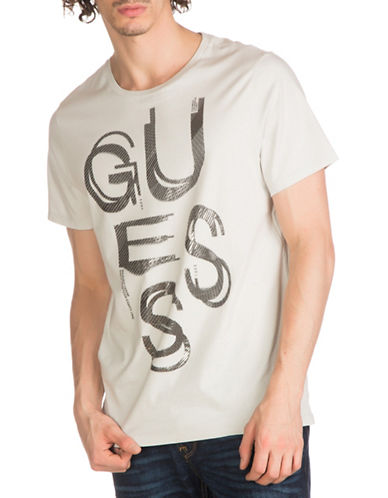 Guess Text Graphic Tee-GREY-X-Large 89009121_GREY_X-Large
